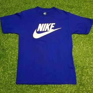 Vintage 80's Blue Tag Classic Nike and Swoosh Tee